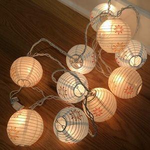 Paper lantern light string